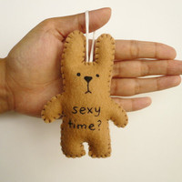 Ornament funny bunny - Sexy time - tree decoration Christmas, office, nursury or gag gift