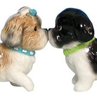 Westland Giftware Mwah Magnetic Shih Tzus Salt and Pepper Shaker Set