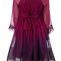 Guinevere Long Sleeve Dress | Purple | Monsoon