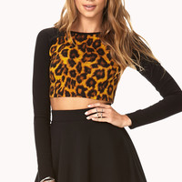 Untamed Leopard Crop Top