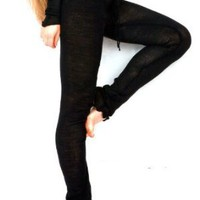 Drawstring Low Rise Classic Knit Tights by KD dance, Makers of the Finest Knit Dancewear In The World, Made In New York City USA, Sexy Fashionable Loungewear, Chic, Warm & Durable Leggings