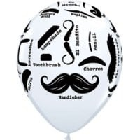 """11"""" Mustache Styles Around Latex Balloons (10 per package)"""