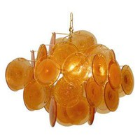 Amber Disc Chandelier | Pieces