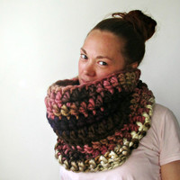 The Chunkiest Cowl Scarf Ever. Pink Sands. One by LarkinAndLarkin