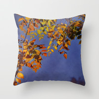 Autumn dreams Throw Pillow by Guido Montañés