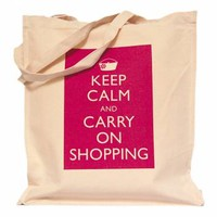 Keep Calm and Carry On Shopping Bag (M) - Gifts For Her from the gifted penguin UK
