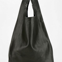 BAGGU Classic Small Leather Shopper Bag - Urban Outfitters