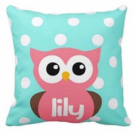 Personalized Handmade Nursery Owl Pillow - Whimsical & Unique Gift Ideas for the Coolest Gift Givers