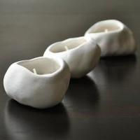 Three Porcelain and White Stoneware Pebble by SuiteOneStudio