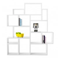 Stacked shelf module small, white