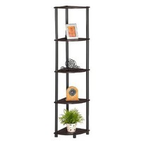 Furinno 5-Tier Tube Corner Rack Display Shelf, 99811
