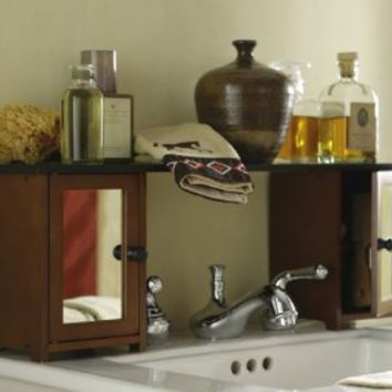 Mirrored Over The Sink Bathroom Storage Shelf Cabinet