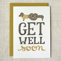 Get Well Card - Sick as a Dog