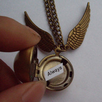 Harry Potter Golden Snitch Necklacesilver by qizhouhuang on Etsy