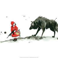 Red Riding Hood Print by Lora Zombie at Art.com
