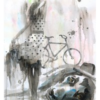 Rain Lady Giclee Print by Lora Zombie at Art.com