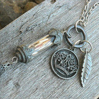 Bottle Charm Necklace by InkandRoses13
