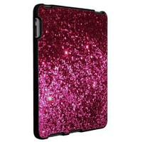 Hot pink princess girly glitter sparkle iPad case