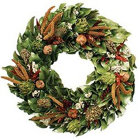 The Well Appointed House by Melissa Hawks. Dried  Chilies & Artichokes Wreath -Available in Three Different Sizes