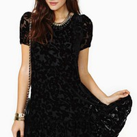Shadow Garden Velvet Dress