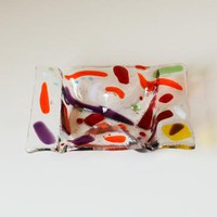 Fused Glass Candy Trinket Dish by eyeseesage on Zibbet