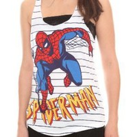 Marvel Spider-Man Striped Tank Top Plus Size 3XL