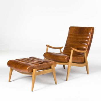 hans leather chair by dwell studio from home