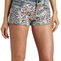 Joe&#x27;s Jeans Women&#x27;s Multicolor Sequin Cut Off Short
