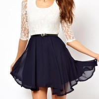LACE CHIFFON DRESS FOR GIRLS