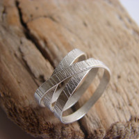 Wrapped Sterling Silver Ring Eternity