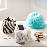 Fur Beanbag Cell Phone Holder