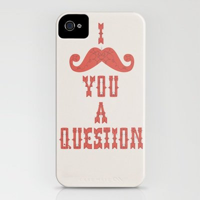 I mustache you a question iPhone Case by INDUR