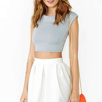 Power Trip Crop Top - Gray