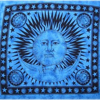 Celestial with Fringe - Blue - Tapestry