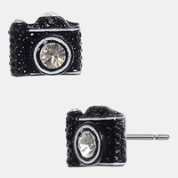 Betsey Johnson Camera Stud Earrings | Nordstrom