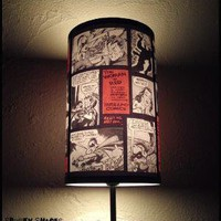 Comic Strip Lamp Shade Lampshade by SpookyShades on Etsy