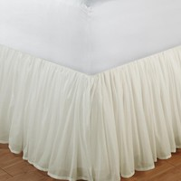Double Layered Cotton Voile Bed Skirt - Plow & Hearth