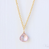 Mystic Pink Quartz Necklace