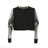 Cheap Monday Mesh Sleeve Crop Top