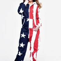 USA Onesuit Stars and Stripes - Womens