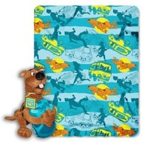 Warner Brothers, Scooby-Doo, Scooby Mystery 40-Inch-by-50-Inch Fleece Blanket with Character Pillow by The Northwest Company