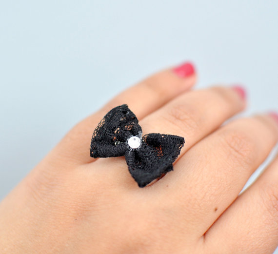 Black Tie Affair Bow Ring By KimArt - Made To Order | Luulla