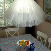 Tulle pendant lamp - Crafty Nest