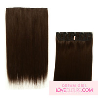 MEDIUM STRAIGHT 1 PC CLIP IN SYNTHETIC HAIR EXTENSION