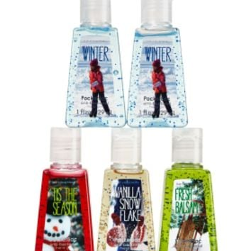 Snow Days Bundle 5-Pack PocketBac Sanitizers   - Anti-Bacterial - Bath & Body Works