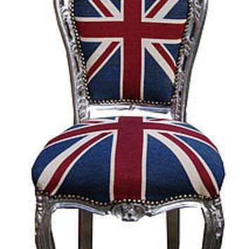 vintage style union jack french dining chair by made with love designs ltd | notonthehighstreet.com