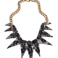 Ted Rossi Gold and Swarovski Elements J'Amour Spike Bib Necklace - Max & Chloe