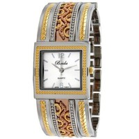 "Breda Women's 2193_tritone ""Scarlett"" Ornate Vintage Bangle Watch - designer shoes, handbags, jewelry, watches, and fashion accessories 