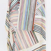 Hui Hui Painted Stripes Silk Scarf $280. At Beklina