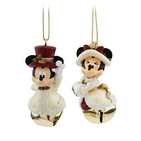 Disney Minnie and Mickey Mouse Victorian Bell Ornament Set | Disney Store